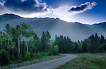 morning in the Rocky Mountains along the Peak to Peak Scenic and Historic Byway near Estes Park, Colorado, USA
