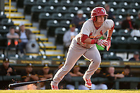 Palm Beach Cardinals outfielder Charlie Tilson (8) during a game against the Bradenton Marauders on April 9, 2014 at McKechnie Field in Bradenton, Florida.  Palm Beach defeated Bradenton 3-1.  (Mike Janes/Four Seam Images)