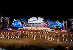 Participants attend the closing ceremony of the 5th Asian Beach Games 2016 at Bien Dong Park on 03 October 2016, in Danang, Vietnam Photo by Marcio Machado / Power Sport Images