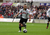 Pictured: Stephen Dobbie of Swansea City in action<br />
