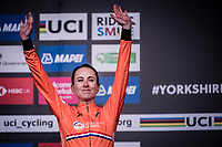 Elite Women Individual Time Trial podium:<br /> 3rd > Annemiek van Vleuten (NED/Mitchelton-Scott)<br /> <br /> 2019 Road World Championships Yorkshire (GBR)<br /> <br /> ©kramon