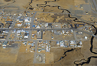 aerial photograph of Bridgeport, Mono County, California
