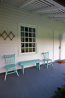 Porch of Waioli Mission House. Hanalei, Kauai, Hawaii.