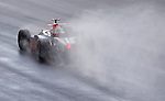 05 Apr 2009, Kuala Lumpur, Malaysia ---  Piquet GP driver Roldan Rodriguez of Spain steers his car through the rain during the race 2 of the FIA GP2 Asia Series 2009 at the Sepang circuit, near Kuala Lumpur. Photo by Victor Fraile --- Image by © Victor Fraile / The Power of Sport Images