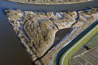 Spadenlaender Spitze: EUROPA, DEUTSCHLAND, HAMBURG, BERGEDORF, (EUROPE, GERMANY), 6.01.2017: Spadenlaender Spitze, Zufluss der Dove Elbe in den Hauptstrom