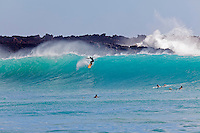 Surfing at Makena, Maui