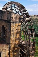 maurisches Wasserrad in Cordoba, Andalusien, Spanien