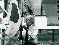 nationalistischer Redner in Tokyo, Japan