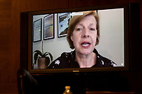 """United States Senator Tammy Baldwin (Democrat of Wisconsin), speaking though teleconference during the US Senate Health, Education, Labor, and Pensions Committee hearing titled """"COVID-19: Going Back to School Safely"""" on Capitol Hill in Washington, DC on Thursday, June 4, 2020.<br /> Credit: Ting Shen / CNP/AdMedia"""
