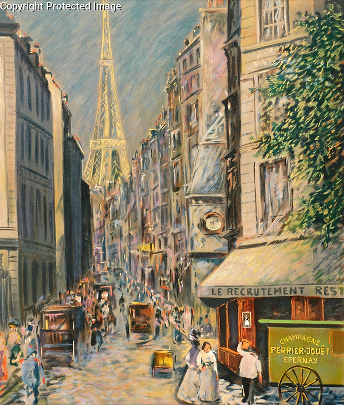 """Eiffel Tower at Rue Saint Dominique""<br />