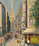 """""""Eiffel Tower at Rue Saint Dominique""""<br /> Limited Edition Lithograph 29x23<br /> SN $1,200<br /> RN $1,400<br /> RN With Original Watercolor Remarque $1,900"""