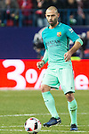 FC Barcelona's defender Javier Mascherano in action  during the match of Copa del Rey between Atletico de  Madrid and Futbol Club Barcelona at Vicente Calderon Stadium in Madrid, Spain. February 1st 2017. (ALTERPHOTOS/Rodrigo Jimenez)