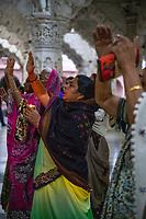 India, Gujarat, Bhuj. Shree Swaminarayan Temple. Hindu.