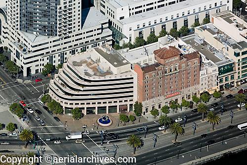 aerial photograph of The Embarcadero at Howard Streeet, San Francisco, California