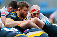 27th March 2021; Ricoh Arena, Coventry, West Midlands, England; English Premiership Rugby, Wasps versus Sale Sharks; Akker van der Merwe of Sale Sharks eyes Will Rowlands of Wasps at a maul
