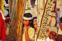Kinder beim Fest der Nationalheiligen Jungfrau von Guadalupe in Mexiko Stadt, Mexiko, Nordamerika