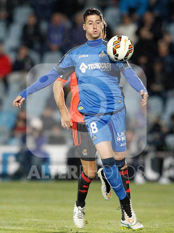 Getafe's Sergio Escudero during La Liga match.March 16,2015. (ALTERPHOTOS/Acero)
