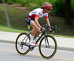 TORONTO, ON, AUGUST 8, 2015. Nicole Clermont of Canada wins a bronze medal in Women's Road Race (C1-5) at the ParaPan Am Games.<br /> Photo: Dan Galbraith/Canadian Paralympic Committee