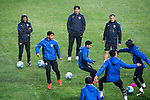 Al Ain FC players warm up during a training session ahead the 2016 AFC Champions League Final 1st Leg match between Jeonbuk Hyundai Motors (KOR) and Al Ain (UAE) at Jeonju World Cup Stadium on 18 November 2016, in Jeonju, South Korea. Photo by Victor Fraile / Power Sport Images