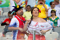 Costa Rica fans in traditional dress