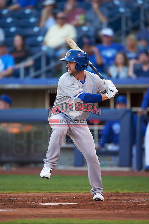 Midland RockHounds outfielder Matt Angle (29) at bat during a game against the Tulsa Drillers on June 2, 2015 at Oneok Field in Tulsa, Oklahoma.  Midland defeated Tulsa 6-5.  (Mike Janes/Four Seam Images)