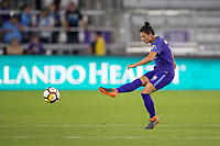 Orlando, FL - Saturday March 24, 2018: Orlando Pride defender Ali Krieger (11) during a regular season National Women's Soccer League (NWSL) match between the Orlando Pride and the Utah Royals FC at Orlando City Stadium. The game ended in a 1-1 draw.