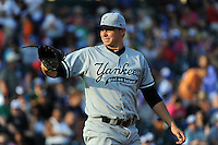 Staten Island Yankees pitcher Sam Elam (39) during game against the Brooklyn Cyclones at MCU Park in Brooklyn, NY June 19, 2010. Cyclones won 9-6.  Photo By Tomasso DeRosa/Four Seam Images