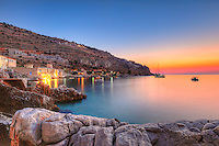 Sunset at Limeni in Mani, Greece
