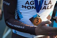Oliver Naesen (BEL/AG2R-LaMondiale) 3th place medal<br /> <br /> E3 Harelbeke 2017