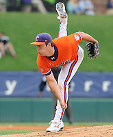 May 11, 2009: RHP David Haselden (29) of the Clemson Tigers in a game against the Furman Paladins at Fluor Field at the West End in Greenville, S.C. Haselden is a freshman who played for Spartanburg High School. Photo by: Tom Priddy/Four Seam Images