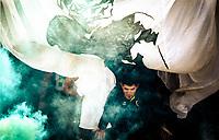 RIO DE JANEIRO, RJ, 02.07.2017 - BOTAFOGO-FLAMENGO - Treinador Duda Duarte do Botafogo Reptiles, durante a abertura do campeonato brasileiro de futebol americano, no estádio do São Cristóvão, zona norte da cidade do Rio de Janeiro, na tarde deste domingo, 02. (Foto: Jayson Braga / Brazil Photo Press)