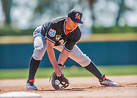 7 March 2016: Miami Marlins infielder Martin Prado warms up prior to a Spring Training pre-season game against the Washington Nationals at Space Coast Stadium in Viera, Florida. The Nationals defeated the Marlins 7-4 in Grapefruit League play. Mandatory Credit: Ed Wolfstein Photo *** RAW (NEF) Image File Available ***