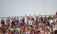 23 May 09: New England Revolution fans show their support during a game between the New England Revolution and Toronto FC.Toronto FC won 3-1.
