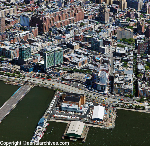 aerial photograph Meatpacking District, Manhattan, New York City