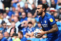 28th August 2021; Cardiff City Stadium, Cardiff, Wales;  EFL Championship football, Cardiff versus Bristol City; Marlon Pack of Cardiff City prepares to take a throw-in