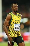Usain Bolt (JAM), <br /> AUGUST 22, 2015 - Athletics : <br /> 15th IAAF World Championships in Athletics Beijing 2015 <br /> Men's 100m Heats <br /> at Beijing National Stadium in Beijing, China. <br /> (Photo by YUTAKA/AFLO SPORT)