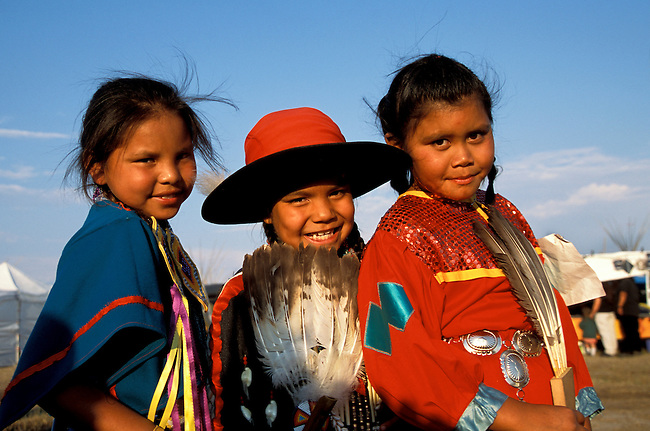 Like their ancestors, these three girls began a friendship at this pow wow as they happened to meet each other at the annual Sho-Ban Festival in Fort Hall Idaho