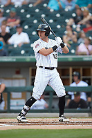 Matt Skole (12) of the Charlotte Knights at bat against the Indianapolis Indians at BB&T BallPark on May 26, 2018 in Charlotte, North Carolina. The Indians defeated the Knights 6-2.  (Brian Westerholt/Four Seam Images)