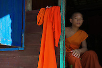 Novice Monks, at the Monastery next to Angkor Wat Siem Reap
