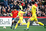 Spain's Carlos Soler and Romania's Ciobanu Andre  during the International Friendly match on 21th March, 2019 in Granada, Spain. (ALTERPHOTOS/Alconada)