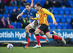 St Johnstone v Partick Thistle....17.01.15  SPFL<br /> Steven MacLean and Conrad Balatoni<br /> Picture by Graeme Hart.<br /> Copyright Perthshire Picture Agency<br /> Tel: 01738 623350  Mobile: 07990 594431