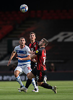 Queens Park Rangers' Dominic Ball (left) battles with Bournemouth's Dan Gosling (centre) and Lewis Cook (right)  <br /> <br /> <br /> Photographer David Horton/CameraSport<br /> <br /> The EFL Sky Bet Championship - Bournemouth v Queens Park Rangers - Saturday 17th October 2020 - Vitality Stadium - Bournemouth<br /> <br /> World Copyright © 2020 CameraSport. All rights reserved. 43 Linden Ave. Countesthorpe. Leicester. England. LE8 5PG - Tel: +44 (0) 116 277 4147 - admin@camerasport.com - www.camerasport.com