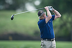 Michael Douglas plays a second shot during the World Celebrity Pro-Am 2016 Mission Hills China Golf Tournament on 21 October 2016, in Haikou, China. Photo by Marcio Machado / Power Sport Images