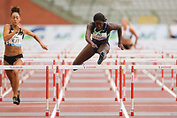 5th September 2020, Brussels, Netherlands;  Belgiums Anne Zagre R competes during the 100m Hurdles Women at the Diamond League Memorial Van Damme athletics event at the King Baudouin stadium in Brussels, Belgium, Sept