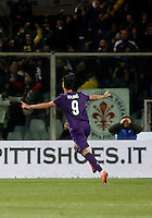 Calcio, Serie A: Fiorentina vs Juventus. Firenze, stadio Artemio Franchi, 24 aprile 2016.<br /> Fiorentina's Nikola Kalinic celebrates after scoring during the Italian Serie A football match between Fiorentina and Juventus at Florence's Artemio Franchi stadium, 24 April 2016. <br /> UPDATE IMAGES PRESS/Isabella Bonotto