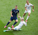 14.06.2021 Scotland v Czech Republic:  Scott McTominay with Jakub Jankto and Tomas Soucek
