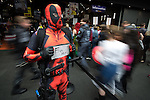 © Joel Goodman - 07973 332324 . 26/07/2015 . Manchester , UK . Attendees arriving at the venue . Comic Con convention at Manchester Central Convention Centre . Photo credit : Joel Goodman