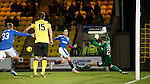 Barrie McKay has a fresh air swipe and misses the ball in front of goal