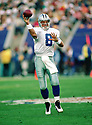 Dallas Cowboys Troy Aikman (8) during Super Bowl 30 against the Pittsburgh Steeler.  The Cowboys beat the Steelers 27-17, Troy Aikman played for 12 years, with all with the Cowboys, was a 6-time Pro Bowler and was inducted to the Pro Football Hall of Fame in 2006.(SPORTPICS)