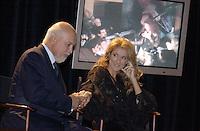 September 26. 2002, Montreal, Quebec, Canada; <br /> <br /> Celine Dion (R) and her husband Rene Angelil,  unveil her Bronze Star at the Pepsi Forum's Walk of Fame, September 26 2002, Montreal, CANADA.